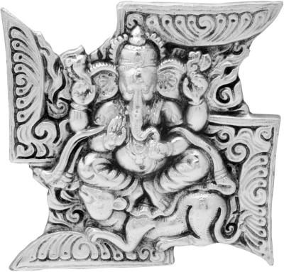 Traditional Rajasthan Auspicious Ganesha On Swatik Showpiece  -  12 cm