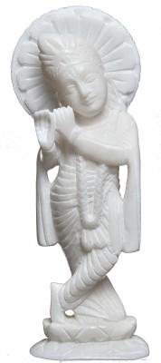 Artist Haat Hand Carved White Marble Showpiece  -  22 cm