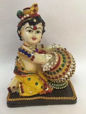 Srmgifts Coloured Bal Gopal with moti work Showpiece  -  17 cm