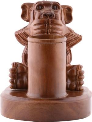 Furncoms Monkey Pen Stand Showpiece  -  16 cm