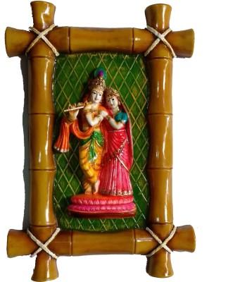 09175d85026b Megifting Shree Radha Krishna Ji Ethnic Bamboo Design Wall Hanging  Showpiece - 40.6 cm(Polyresin