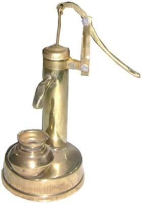 Glori-fyi Brass Antique Handcrafted Hand Pump Showpiece  -  20 cm