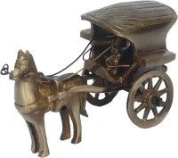 Aakrati Horse Cart Of For Gift Anddecor Showpiece  -  6 cm(Brass, Brown)