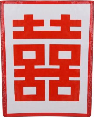 JPS Retail Double Happiness Symbol Poster Showpiece  -  17 cm