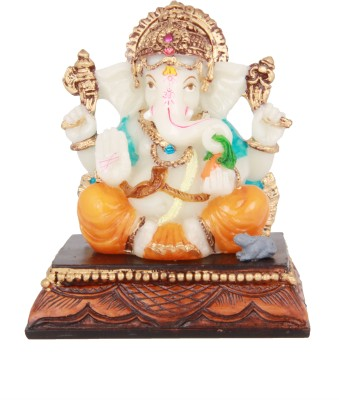 Adaa Chaturbuja Ganesha Sitting On Base Showpiece  -  11 cm