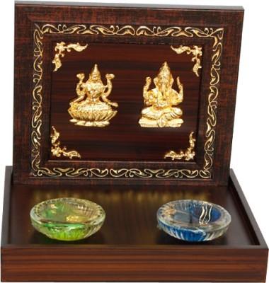 Giftseller Lakshi Ganesh 2 Diyas Showpiece  -  16 cm