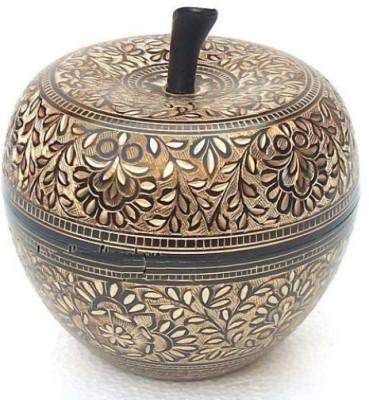 Inspiration World Brass Apple Fruit Pot Showpiece  -  12 cm