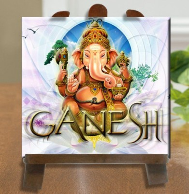 Tiedribbons Lord Ganesh Murti Tile Showpiece  -  26 cm(Ceramic, White)