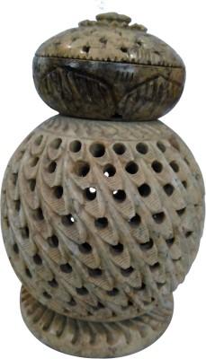 swadesibuyzzar Soft Stone Candel Lamp Showpiece  -  12.7 cm