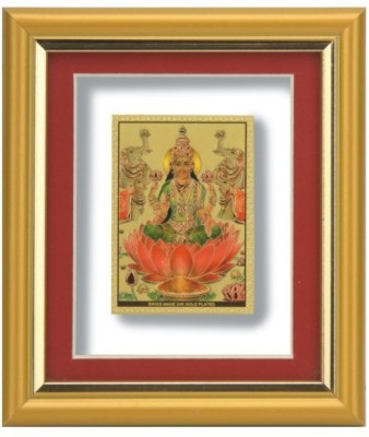 Aarya 24kt Laxmi Gold Plated Frame Showpiece  -  12 cm