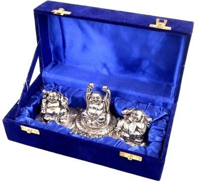 Metallic Kreationz Laughing Buddha Showpiece  -  11 cm
