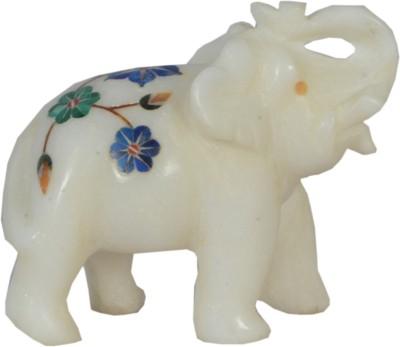 Avinash Handicrafts Marble inlaid Elephant Showpiece  -  7 cm