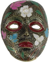 THE HOLY MART Carved Face Showpiece  -  13.5 cm(Brass, Beige)