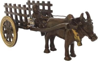 Aakrati Decorative Metal Figure Cart Showpiece - 7 cm