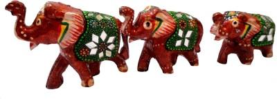 Craft Store India Elephant Family Idol F2 Showpiece  -  7 cm