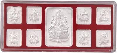 Silverwala 999 Pure Silver Nav swaroop lakshmi Ji Photo Frame (5*12) Showpiece  -  0.5 cm
