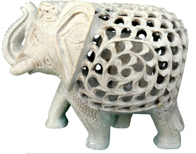 Radhey Marble Elephent With Beautifull Desine And Color And Desine Showpiece  -  7 cm
