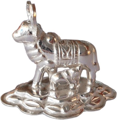 Shakuntala and Daisy Auspicious Silver Cow Showpiece  -  3.5 cm