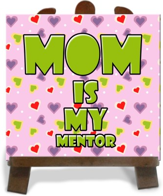 Tiedribbons Mom Is My Mentor Tile Showpiece  -  28 cm(Ceramic, Multicolor)