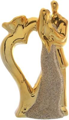 JaipurCrafts Decorative Loving Couple Showpiece  -  20 cm(Polyresin, Gold, Silver)