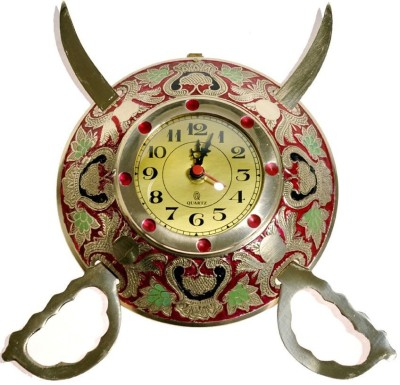 Inspiration World Vintage Dhal Talvar Clock Showpiece  -  21 cm