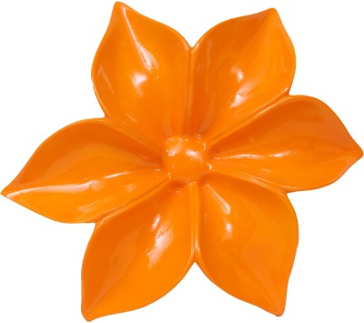 Eternity Wall mounted flower Showpiece  -  7.5 cm(Ceramic, Orange)
