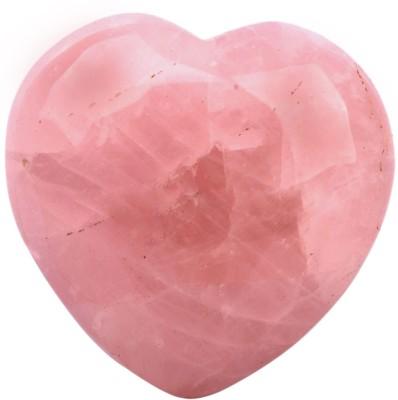 SS Murti Handicrafts Home Decorative Rose Quartz Stone Love Heart Shape 2 Inch Showpiece  -  5.1 cm(Stoneware, Pink)
