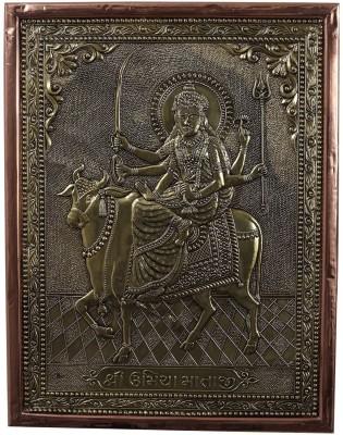 Kapasi Handicrafts Brass Copper Goddess Umiya Wall Piece Showpiece  -  2.5 cm