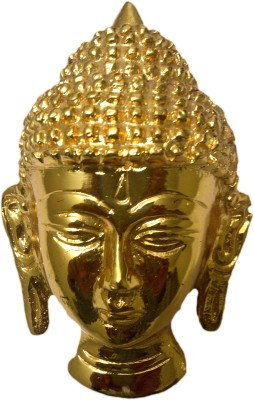 SI Diesel Si diesel brass idol Gift-Golden Buddha Head Showpiece  -  12 cm