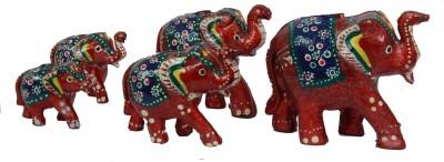 Surya Traditional Elephant Or-5 Showpiece  -  12 cm