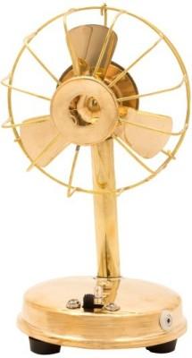Unique Design Working Brass Fan Showpiece  -  20 cm