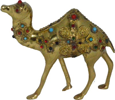 eCraftIndia Stone Studded CamelDecorative Showpiece  -  12 cm
