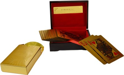 Indigocart Indigocart Gold Plated Playing Cards with Purity Certificate Gold Showpiece  -  2 cm