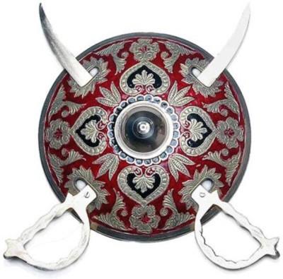 Glori-fyi Brass Antique Handcrafted Armor with Swords Showpiece  -  7.5 cm