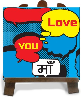 Tiedribbons Colorfull Love You Maa Tile Showpiece  -  28 cm