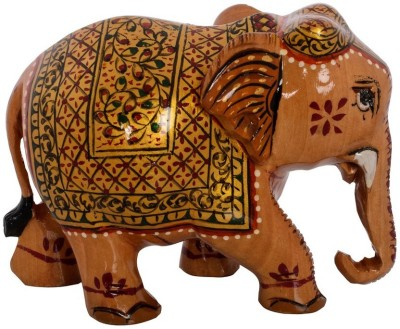 eCraftIndia Elephant with Decorative Golden Shawl Showpiece  -  7.62 cm