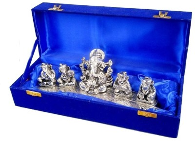 Metallic Kreationz Lord Ganesha Showpiece  -  11 cm