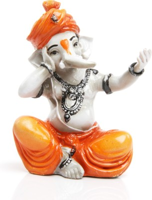 Adaa Singing Ganesha Showpiece  -  14 cm