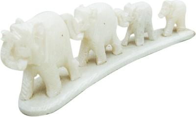 Decor Tattva Inc. Marble White Elephant Showpiece  -  5 cm