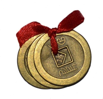 24 Carat  The Three Lucky Feng-Shui Coin Showpiece - 2.5 cm(Nickel, Gold Finish, Bronze, Iron, Gold)