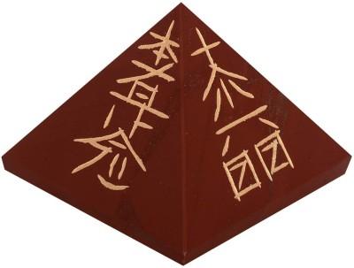 The Crystal Jewel Reiki Symbols carved on Red Jasper Pyramid Showpiece  -  3 cm