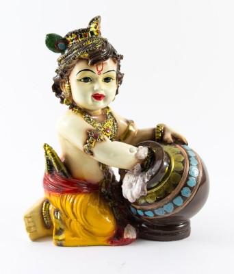 GiftsCellar Makhan Chor Krishna Showpiece  -  22 cm