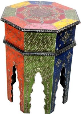 Raja Arts 8 Legs Rajasthani Painted Stool Showpiece  -  46 cm