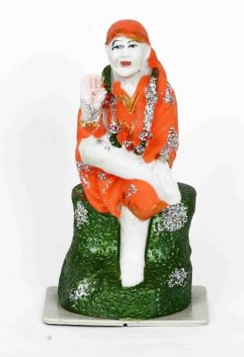 KHUSHI HANDICRAFTS SAI BABA Showpiece  -  14 cm