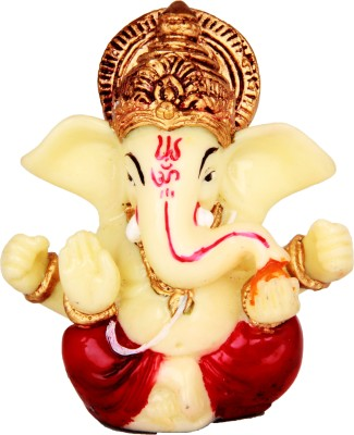 Adaa Glowing Lord Ganesha (Red) Showpiece  -  8 cm