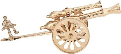 HD Crafts Rajasthani Brass Canon Showpiece  -  7 cm