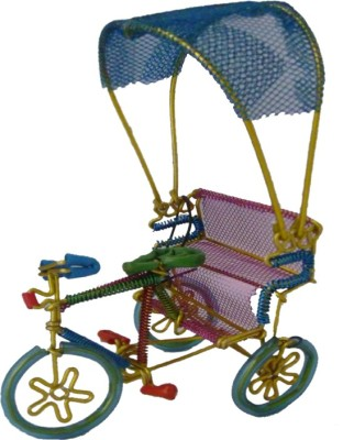 Homedesires Decorative Rikshaw Showpiece  -  17.5 cm(Aluminium, Multicolor)