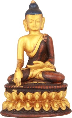 Adaa Closed Eyes Meditating Buddha (Golden) Showpiece  -  9 cm