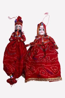 Satya Vipal Rajasthani Puppets Kathputli Showpiece  -  22 cm