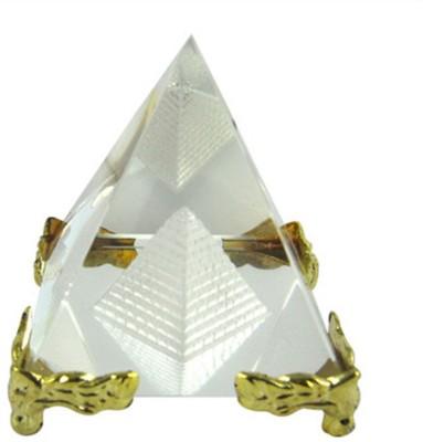 Odisha Bazaar Vastu Fengshui Crystal Pyramid Medium Showpiece  -  5 cm